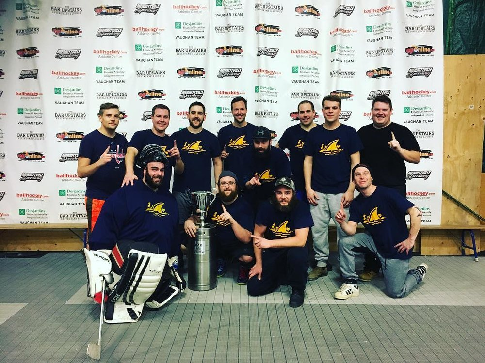 "Men's D2 ""B"" Champions - Landsharks"