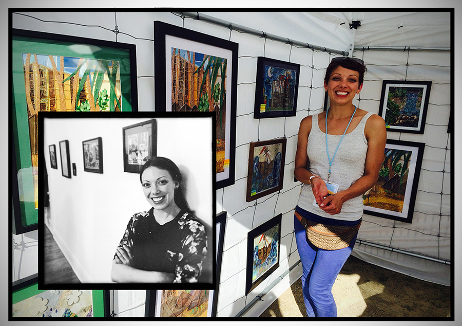 """EmLavArt's first """"gallery"""" show was in Emily's own apartment in late 2014-with all of her furniture in storage. Her first outdoor show was Stone Arch Bridge Art Festival in June of 2015."""