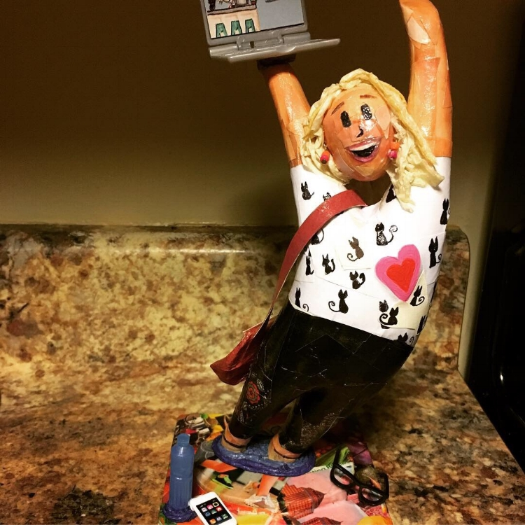 Hammer Residences, a non-profit in Wayzata, Minnesota, created a custom decorated Ralph statue for a departing employee
