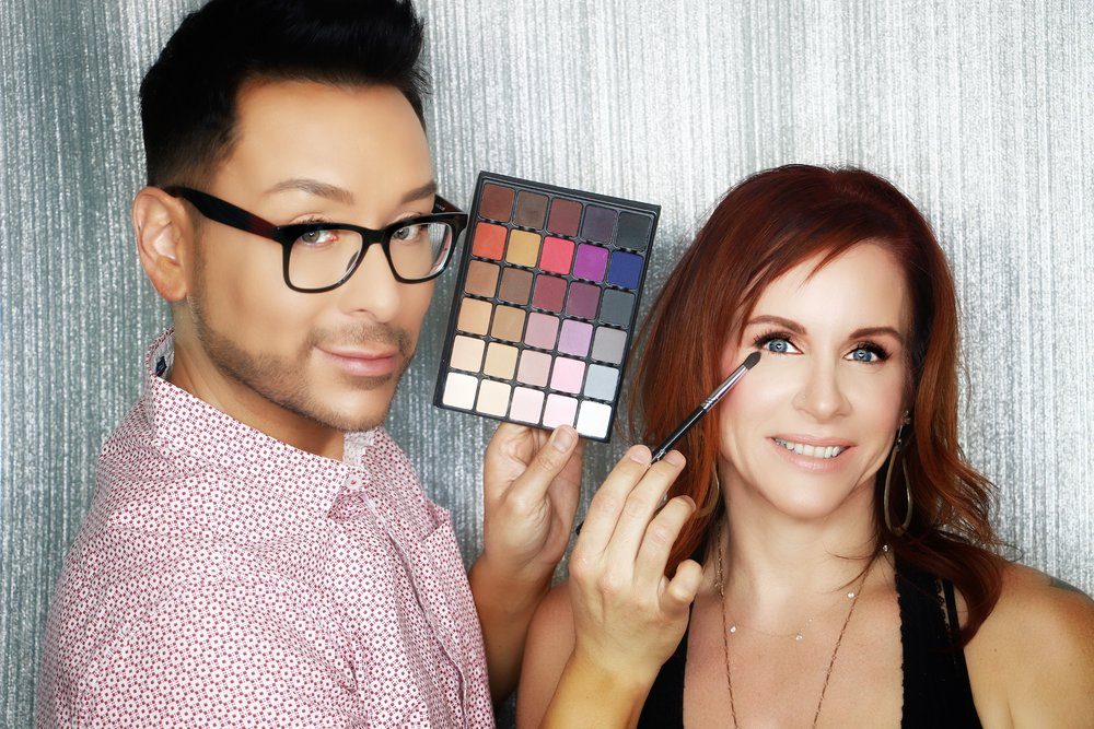 """ Mathias Alan is such an amazing makeup artist and teacher. His expertise in TV Film and movies translates into helping women of all ages and skin tones . I am 46 years old, and Mathias had the intuitive creativity to take my makeup game to the next level!       You will not be disappointed and his time and knowledge is money well spent!! I can take these tips and truck with me whenever I do my own makeup!   Highly recommend""  -  JENNIFER JOYCE"