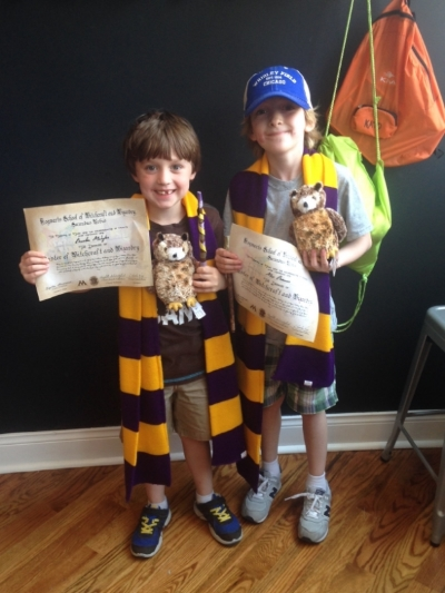"Max and his buddy after ""graduating"" from Hogwarts."