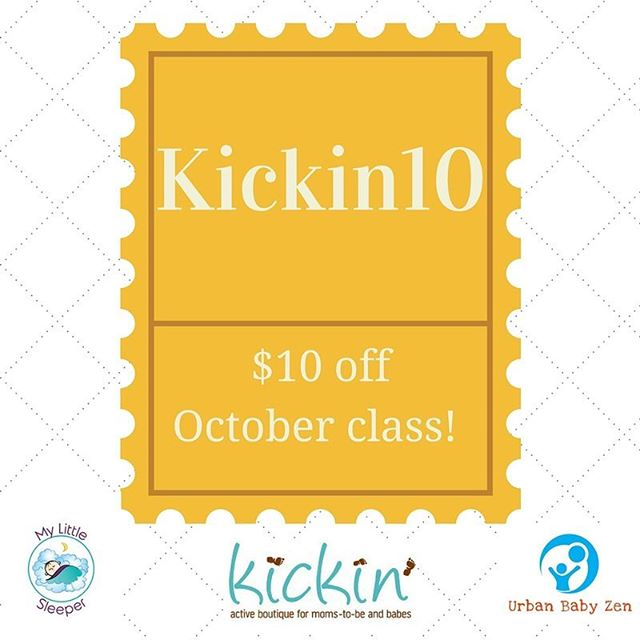 Join us Friday with @mylittlesleeper for our October class at Kickin' and get $10 off registration! Enter Kickin10 at checkout and it will be automatically adjusted.  #urbanbabyzen #mylittlesleeper #infantmassage #sleepybaby #sleephelp #infantmassageclass #chicagobaby #chicagoparent #roscoevillage #roscoevillageparents #chicagomom
