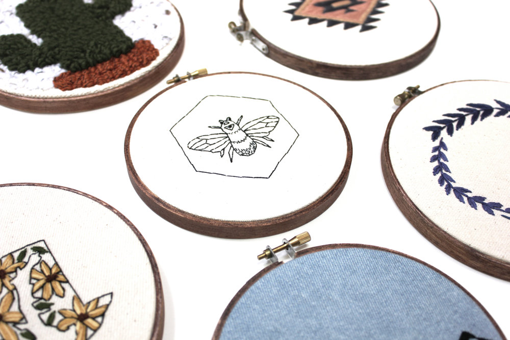 By Elly Jane Rise and Rejoice Hand-Stitched Tapestry Basic Bee.jpg