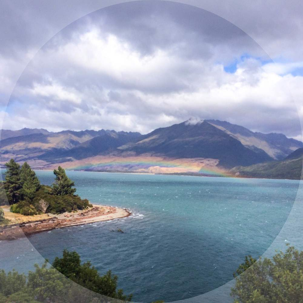 The sun of course came out in Wanaka the minute I left. I luckily snapped this photo on the bus with my phone.