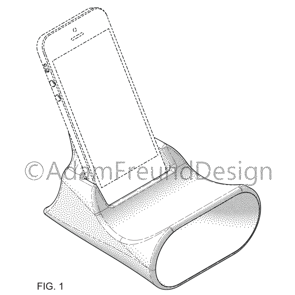 Smartphone stand design patent drawing