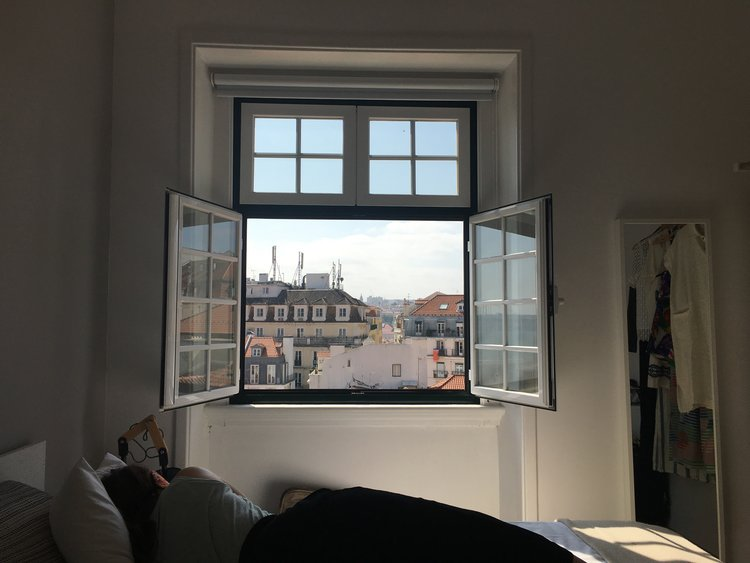 the view from our airbnb in the Chiado.