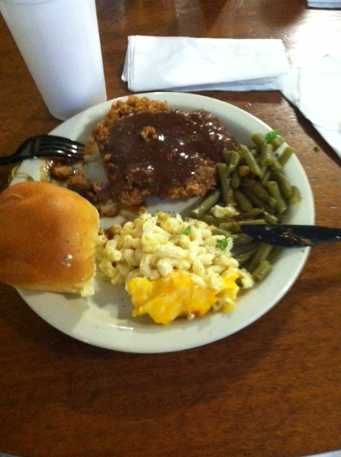 the country fried steak @ Roosters