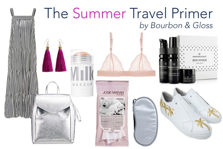how to pack for summer vacation collage