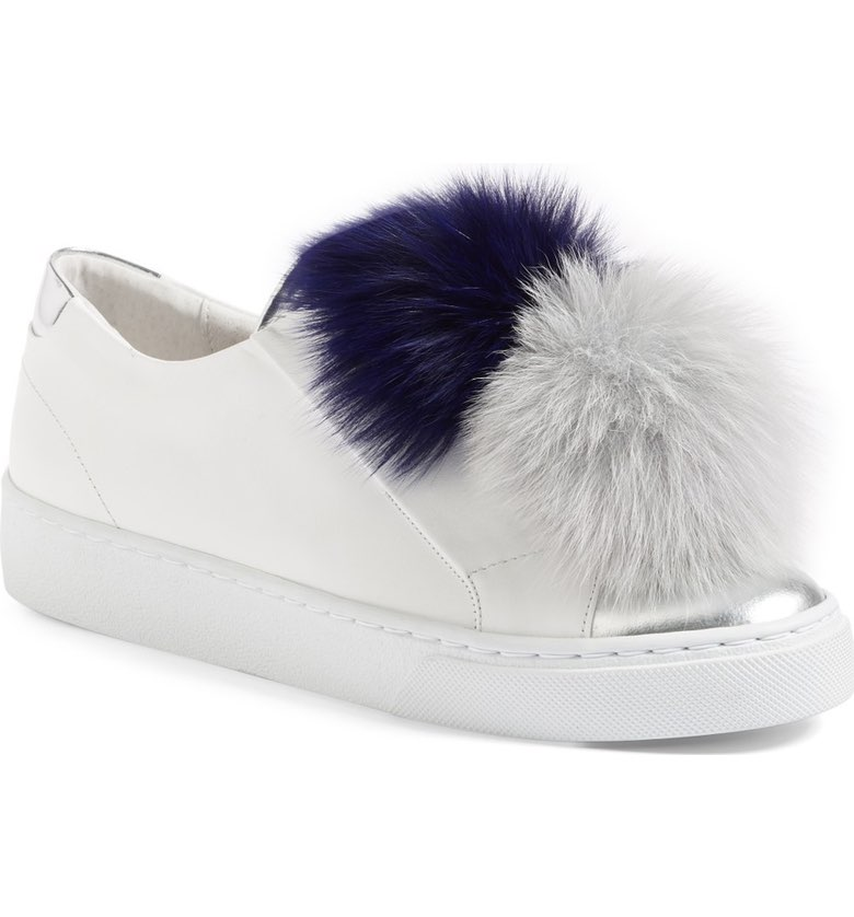 here/now shop pom pom sneakers