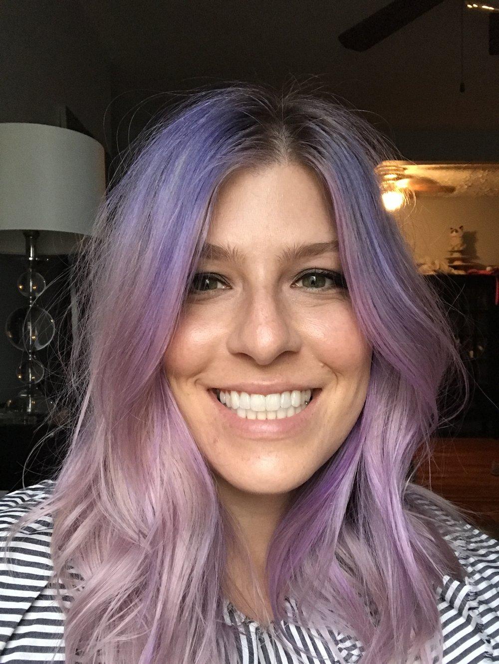 deenie hartzog mislock purple hair