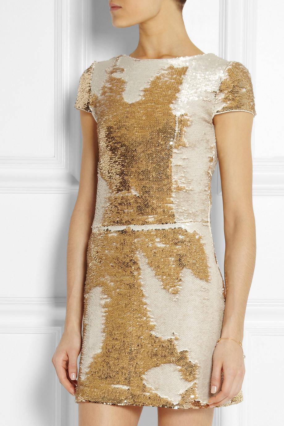 maje-gold-elisee-sequined-mini-dress