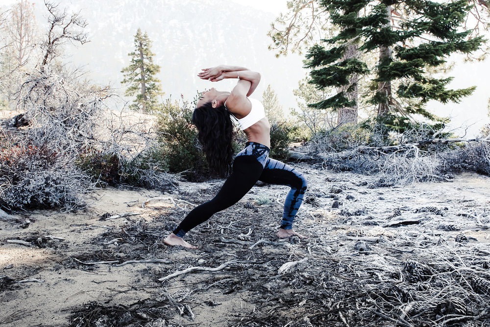 Yoga Pose in the wilderness