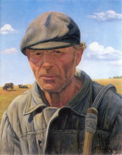 """Shepherd"" by Alexander Shilov (1975)"