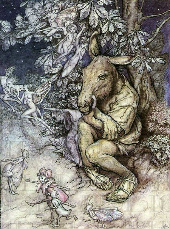"""Bottom as Ass"" by Arthur Rackham"