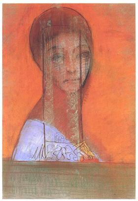 "By Odilon Redon  ""Woman with a Veil"""