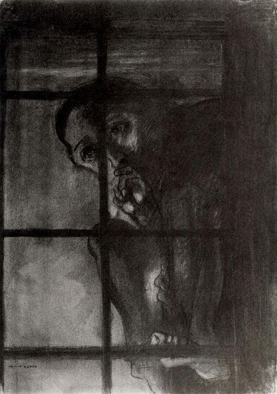 """The Accused""  by Odilon Redon"