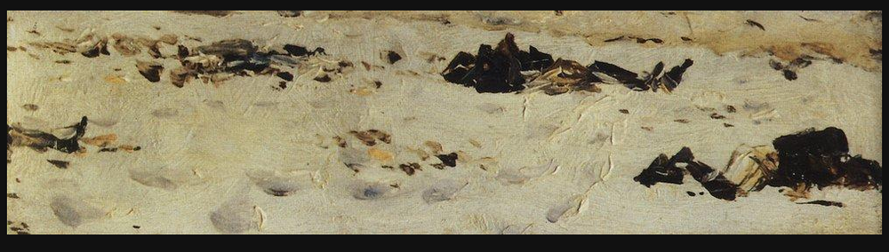 """Frozen corpses of Turkish soldiers"" by Vasily Vereshchagin"