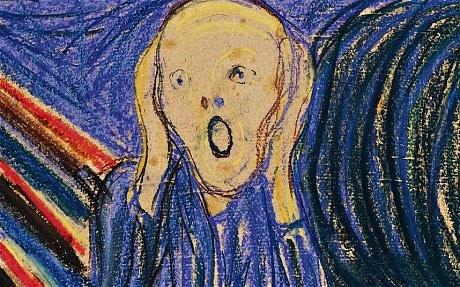 """Detail of Edvard Munch's """"The Scream"""""""