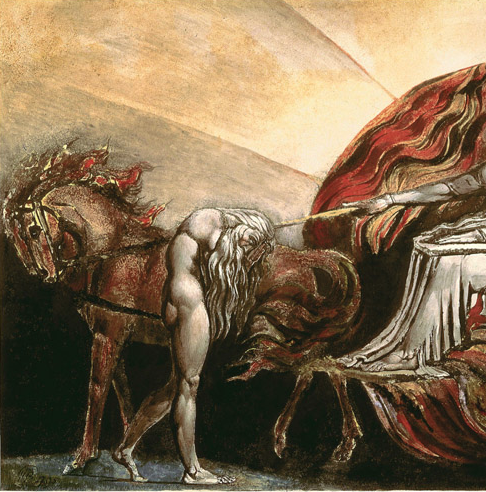 "Detail of ""God Judging Adam"" by William Blake"