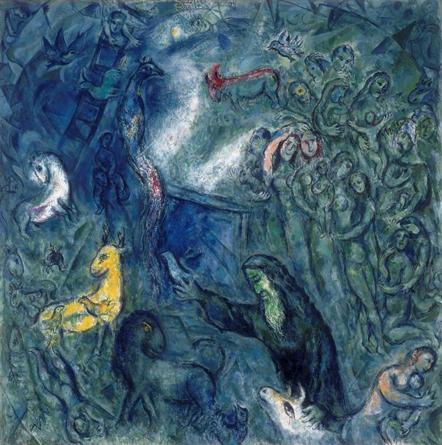 """Noah and the Ark"" by Marc Chagall (1966)"