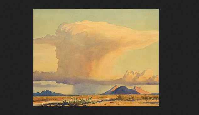 """Drought and Downpour"" by Mayard Dixon, 1944"