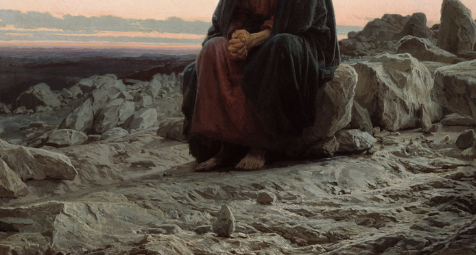 "Ivan Kramskoy ""Christ in the Wilderness"" (1872)"