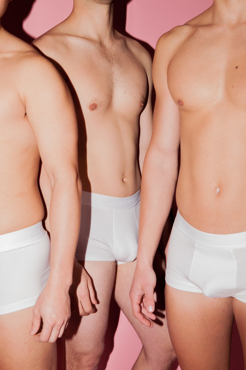 "All ""Boy Smells"" boxer briefs in   WHITE  ."