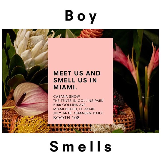 GOD, IT'S HOT OUT. We will be exhibiting at @cabanashow in #Miami starting this Saturday. Let's hang.  #cabanashow #meetmeinmiami #swimweek #boysmells