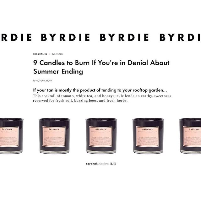 HOLDING ON. Summer, it's been  something. But it being LA, we've another few months of heatwave to hold on to. For those not here, there's #GARDENER. @byrdiebeauty by @victoriadawsonhoff #boysmells #candles #ismellbs