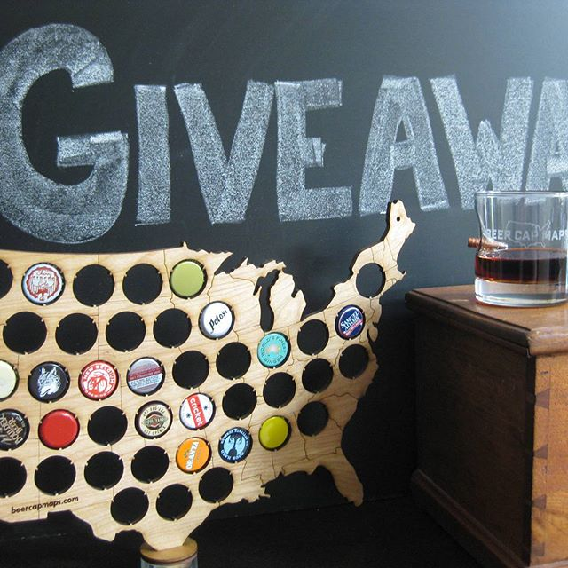 Giveaway! The team @BenShot and @BeerCapMaps have teamed up for a giveaway. Head to our Facebook page to enter. Cheers!!