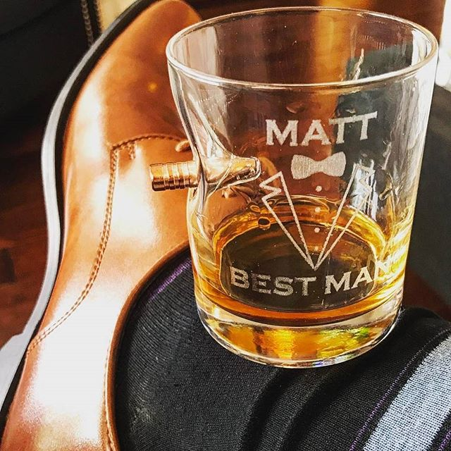 Custom laser etched glasses. Made in the USA by the father and son team at #BenShot Cheers! Photo by the talented @budnick_photography Message us to get yours.