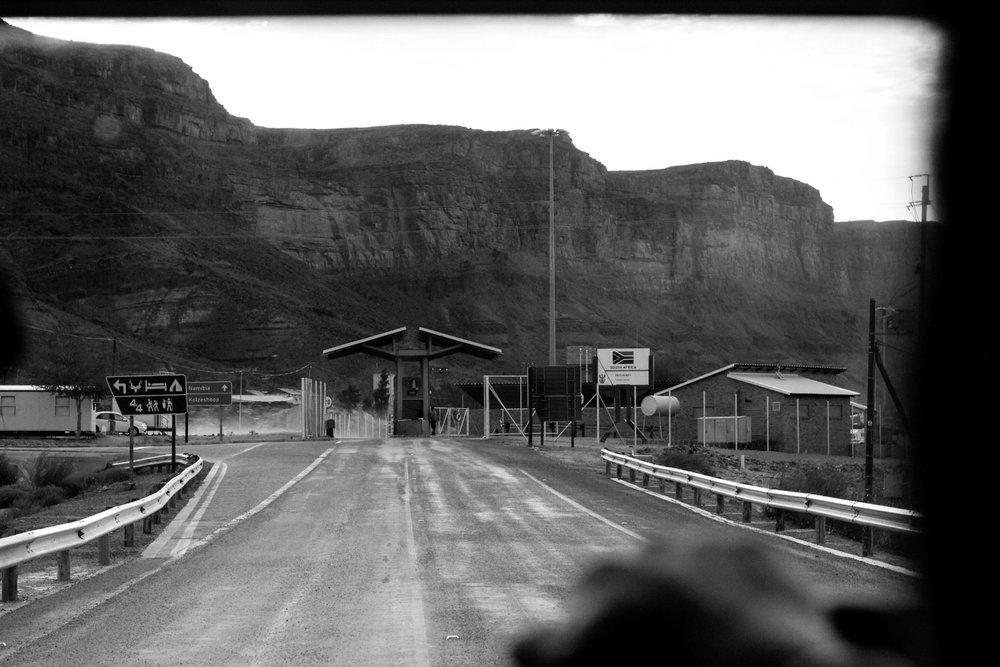 Approaching the Namibian border