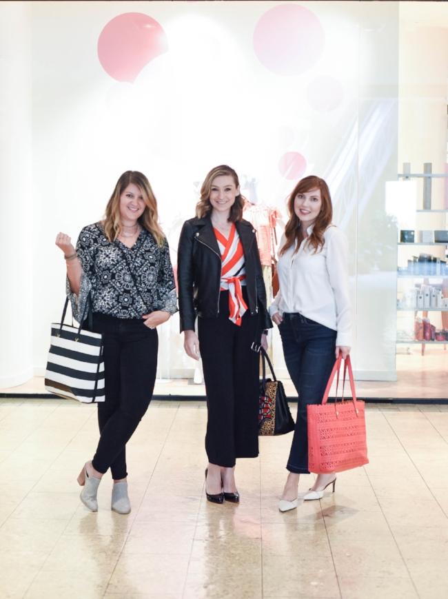 shop //  striped tote bag