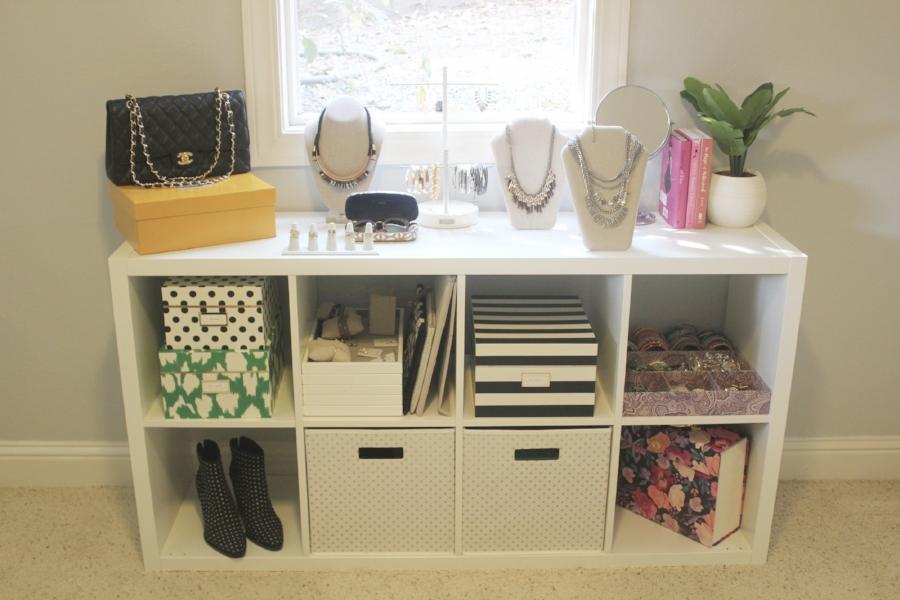 Ikea shelf unit   //   storage box set   //   jewelry