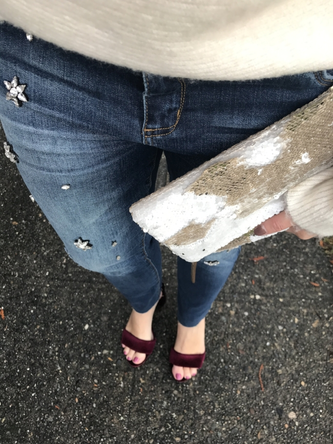 This clutch is PERFECT, for the holidays, and under $75! // shop below
