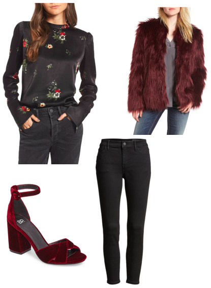 shop //   top ;    pants ;  fur coat ;  shoes
