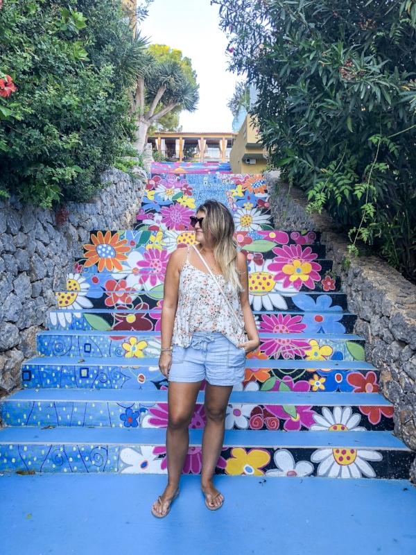 Stairs leading down to marina at Bikini hotels