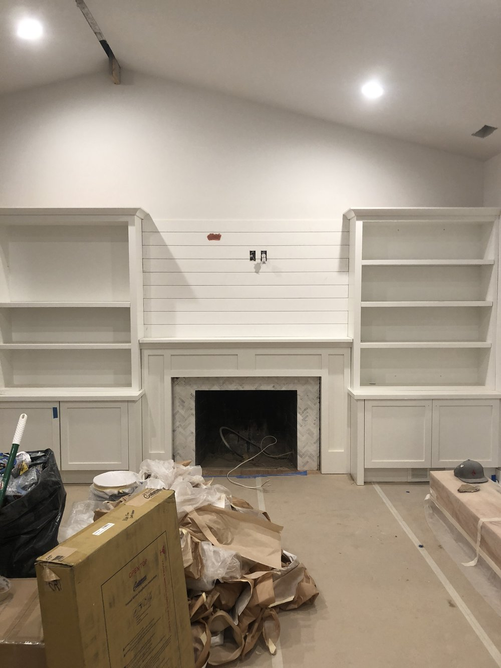 Living room and shiplap install