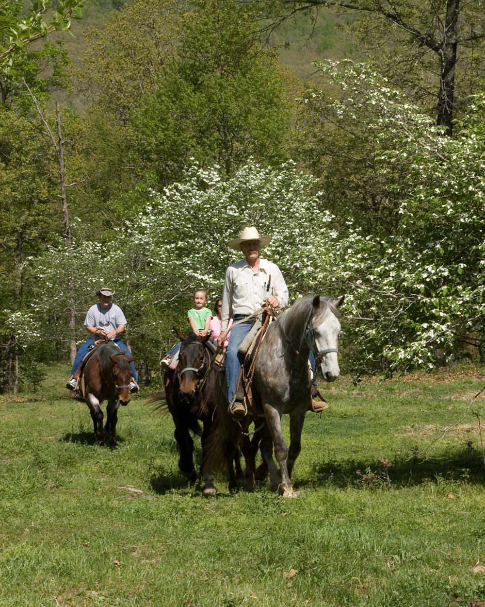 Horseback Riding at Rimrock Cove Ranch in the Spring