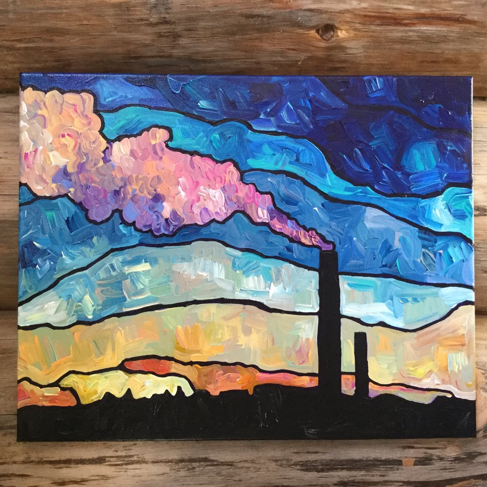 I SEE BEAUTY, 16x20, Acrylic on Canvas, Framed, SOLD