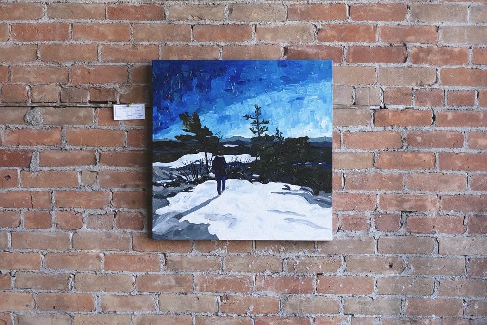 'Willisville', 24x24, $395 (currently on display at the Sudbury Theatre Centre)