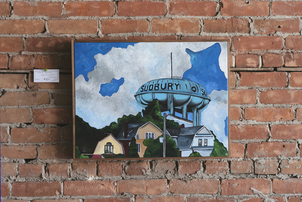 'Sudbury Spaceship', 18x24, $395 (Currently on display at the Sudbury Theatre Centre)