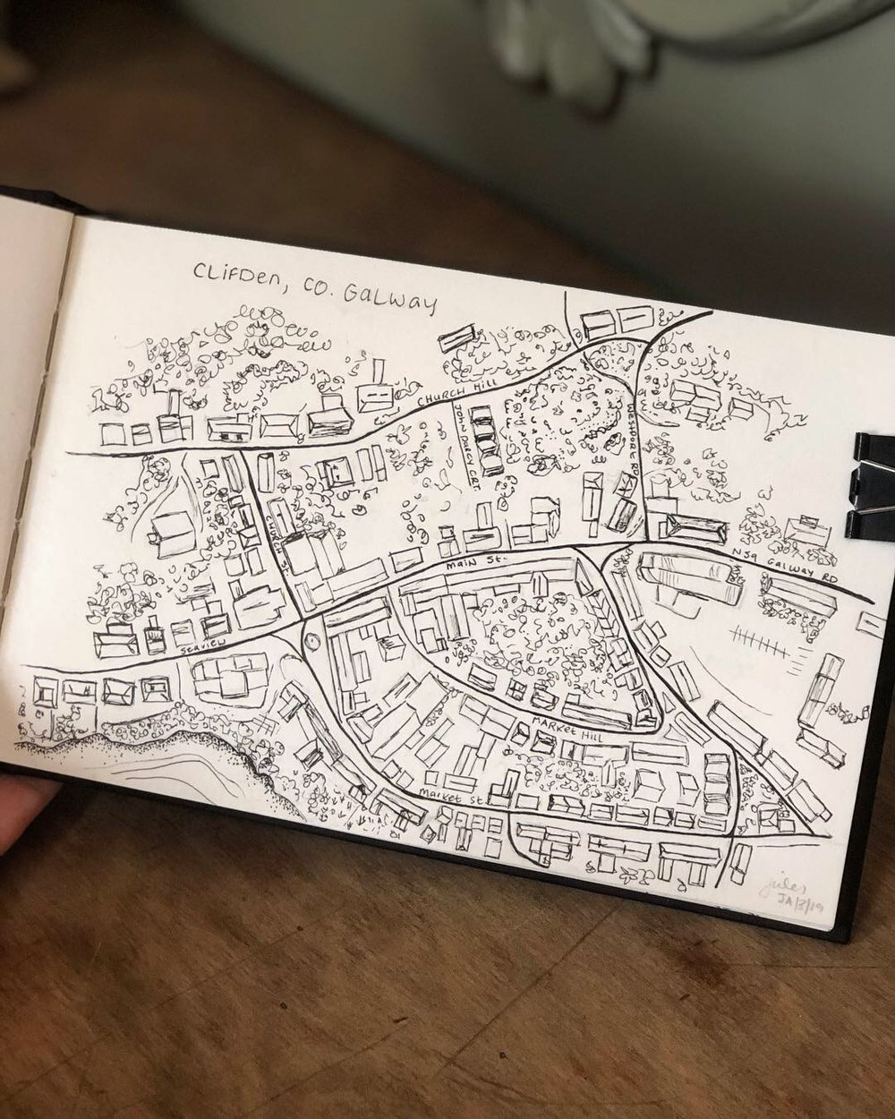 Clifden Town Sketch, 2019