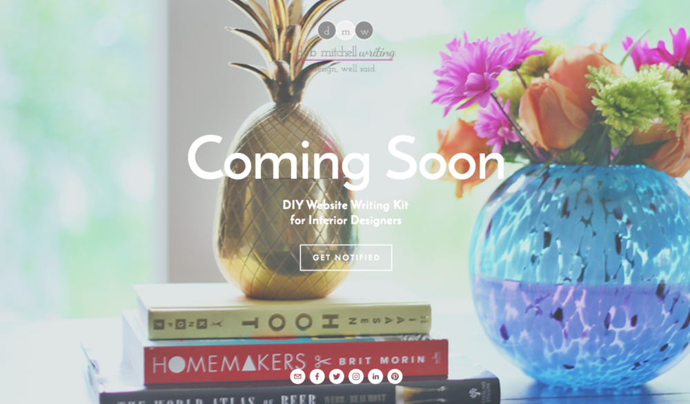 DIY Website Writing Kit for Interior Designers from Deb Mitchell Writing, a professional content and copywriting service