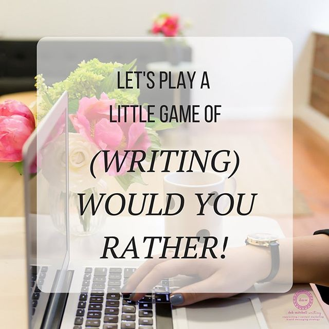 Y'all, there are so many things I've been wanting to share with you on my blog that I'm having trouble deciding what to write about for you next. So I thought we'd play a little Friday game of Would You Rather but with a writing twist! Here goes: Would you rather hear about how to communicate your value effectively by email when clients push back on your pricing OR how to recycle your content? Or would you rather hear about something else altogether? Take your turn by weighing in in the comments, of course! #ithinkihaveacaseofdecisionfatigue #interiordesign #copywriter #contentmarketer #brandmessaging #interiordesigners #creativepros #debmitchellwriting