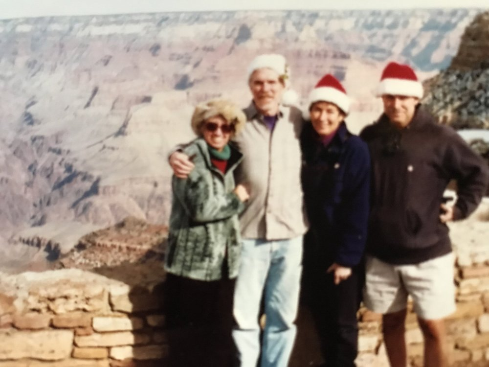 How long do we have to wear these things? With Helene and Mark, Grand Canyon, December, 2002