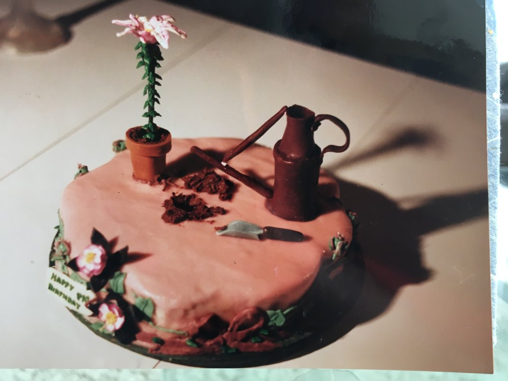 Anne Vaccaro baked this cake for one of Pat's birthdays circa 1991.