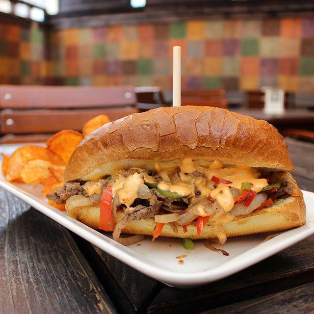 We try to be healthy on Mondays but cheesesteak finds a way… 😍 . . . . . #phillycheesesteak #cheesesteak #sandwichgram #sandwich #sandwichporn #foodporn #foodstagram #foodiegram #foodgram #lunch #lunchfood #lifefindsaway #triplerockbrewing #triplerockbeer #berkeleybrewed #berkeleybeer #craftbeer #berkeley #downtownberkeley #monday #mondaymood #eastbayeats #eastbay #berkeleyeats #berkeleyfood