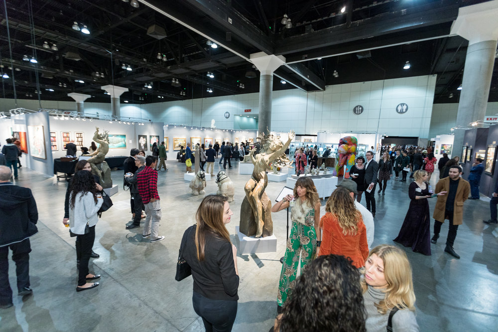 View of Opening Night Floor LA Art Show 2018.jpg
