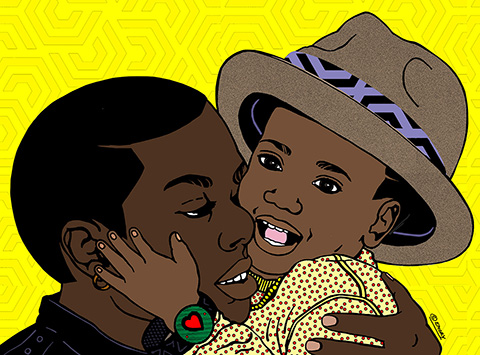 "Emory Douglas, ""Father Son Remixed"""